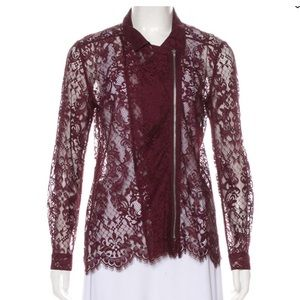 The Kooples Lace Zip up Jacket/Blouse